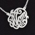 "Sterling Silver ""Mom #1"" Necklace with 16"" Chain"