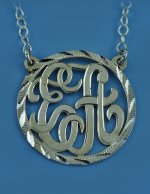 Sterling Silver Personalized Two Initials Monogram Necklace