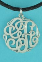Monogram Personalized Two Initial Pendant Sterling Silver.925