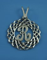 Sterling SILVER Personalized Monogram Initial Pendant