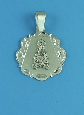 Virgin Our Lady of Charity Sterling Silver Medium Round Medal