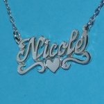 Sterling Silver Personalized Handmade Nameplate with Chain