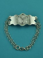 "KID Medical Alert 6"" ID Bracelet .925 Sterling Silver"