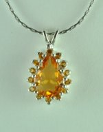 1-1/2Ct.T.W. Natural Citrine Sterling Silver Pendant