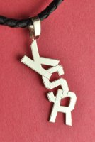 Funny Design Personalized 3 Block Letter Monogram Pendant