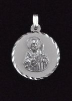 ".925 Sterling Silver ""St. Jude Thaddeus"" Medal Pendant"