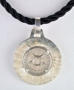 1946 One Cent CUBA Coin with Black Leather Cord Necklace
