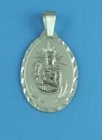 Sterling Silver Oval Saint Barbara Medal
