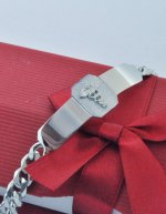 ".925 Sterling Silver Medical Alert 7"" ID Bracelet"