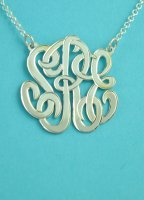 Handmade Round 29mm Monogram Necklace w/Chain