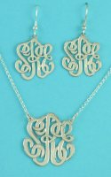Monogram Jewelry Set .925 Sterling Silver
