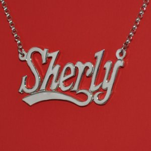 Sterling Silver Handmade Personalized Nameplate with Chain