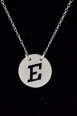 "S/Silver Initial ""E"" Pendant/Chain (All Initial Available)"