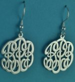 Elegant Personalized Initials Monogram Dangle Earrings